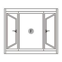 鋁窗 中間固定兩邊推射