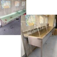 學校不銹鋼洗手槽 001