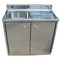 不銹鋼單盆水槽地櫃 700L x 400W mm SKC0201 a