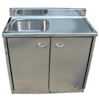 不銹鋼單盆水槽地櫃( 平面檯面無坑) SKC0201 b