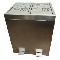 不銹鋼腳踏式垃圾桶 SRB0801