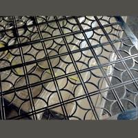不銹鋼電鍍黑摺疊屏風 SCN0301 b