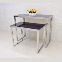 不銹鋼展示檯 尺寸  大 L1200 x W600 x H700(mm)   小 L1000 x W500 x H600(mm) SLV0101